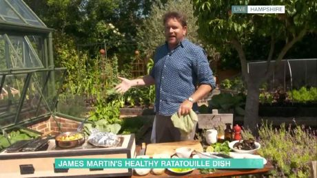 James Martin's barbecued mackerel with ratatouille