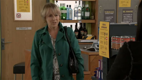 Corrie (Mon, Aug 10th, 7.30 pm): Sally suggests Alya should buy Geoff out