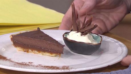 Joseph Denison Carey's chocolate and caramel tart