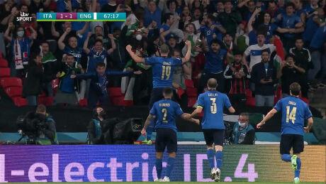 Bonucci brings Italy level in the Euro 2020 final