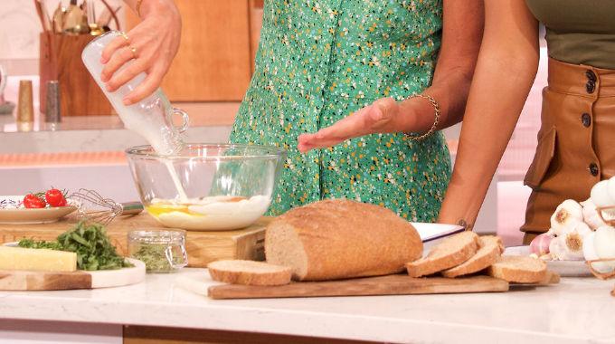 This Morning - Davina's savoury french toast